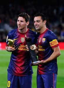 xavi - lionel messi seorang mesin gol barcelona