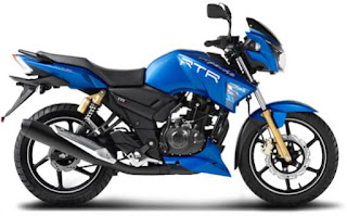TVS Apache RTR 180 blue