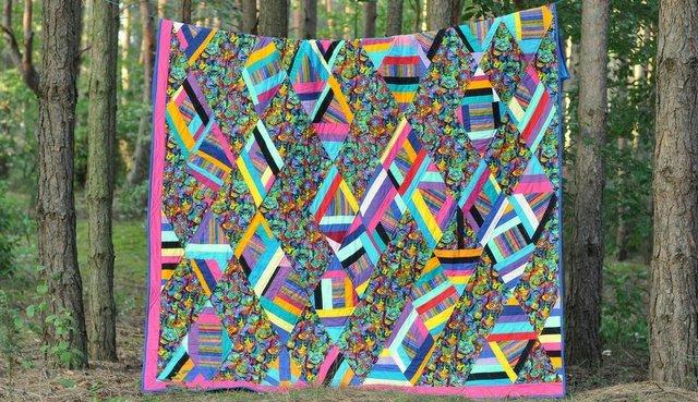 narzuta patchworkowa w koty