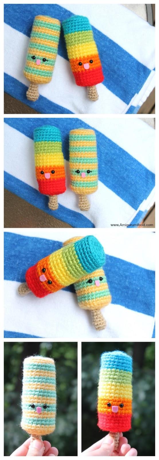 Amigurumi Food: Popsicle Love Free Crochet Pattern Amigurumi Food