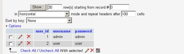 Insert user details