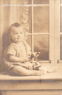 Unidentified baby among pictures from Jollett, Rucker, Davis, Woodring, Ryan household