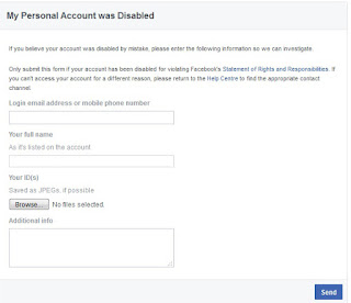 facebook acount locked solved