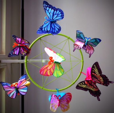 Milk jug plastic butterflies colorful and fun to make
