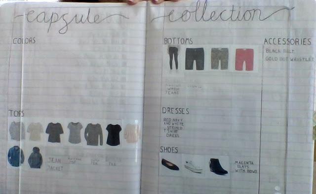 Capsule Wardrobing in my Bullet Journal + Planner