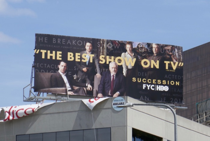 Succession season 1 Emmy FYC billboard