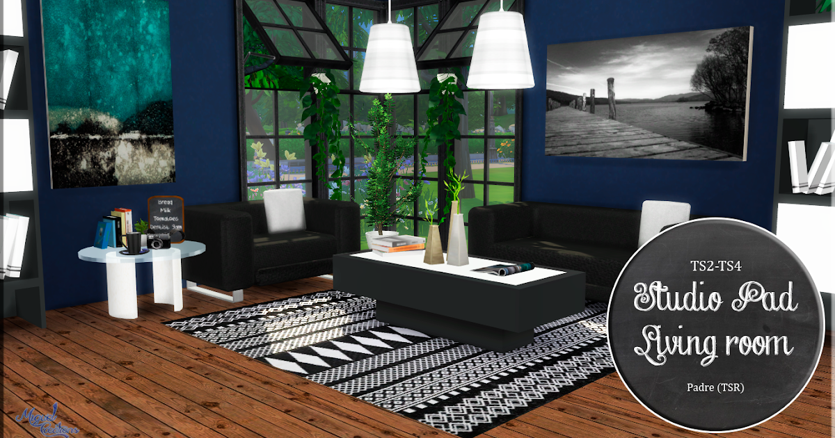 Miguel creations ts4 studio pad living room for The living room channel 10 miguel