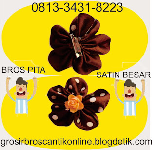 081-334-318-223, Membuat Bros, Bros Kain Perca, Bros Handmade Simple