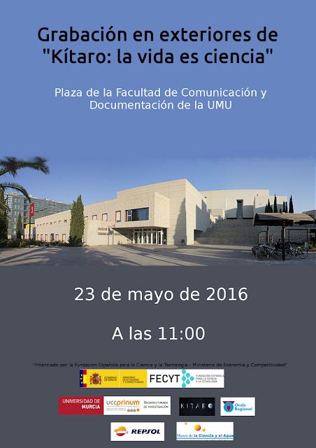 """El programa radiofónico """"Kítaro: la vida es ciencia"""" se desplaza a la plaza de la Facultad de Comunicación y Documentación de la UMU."""