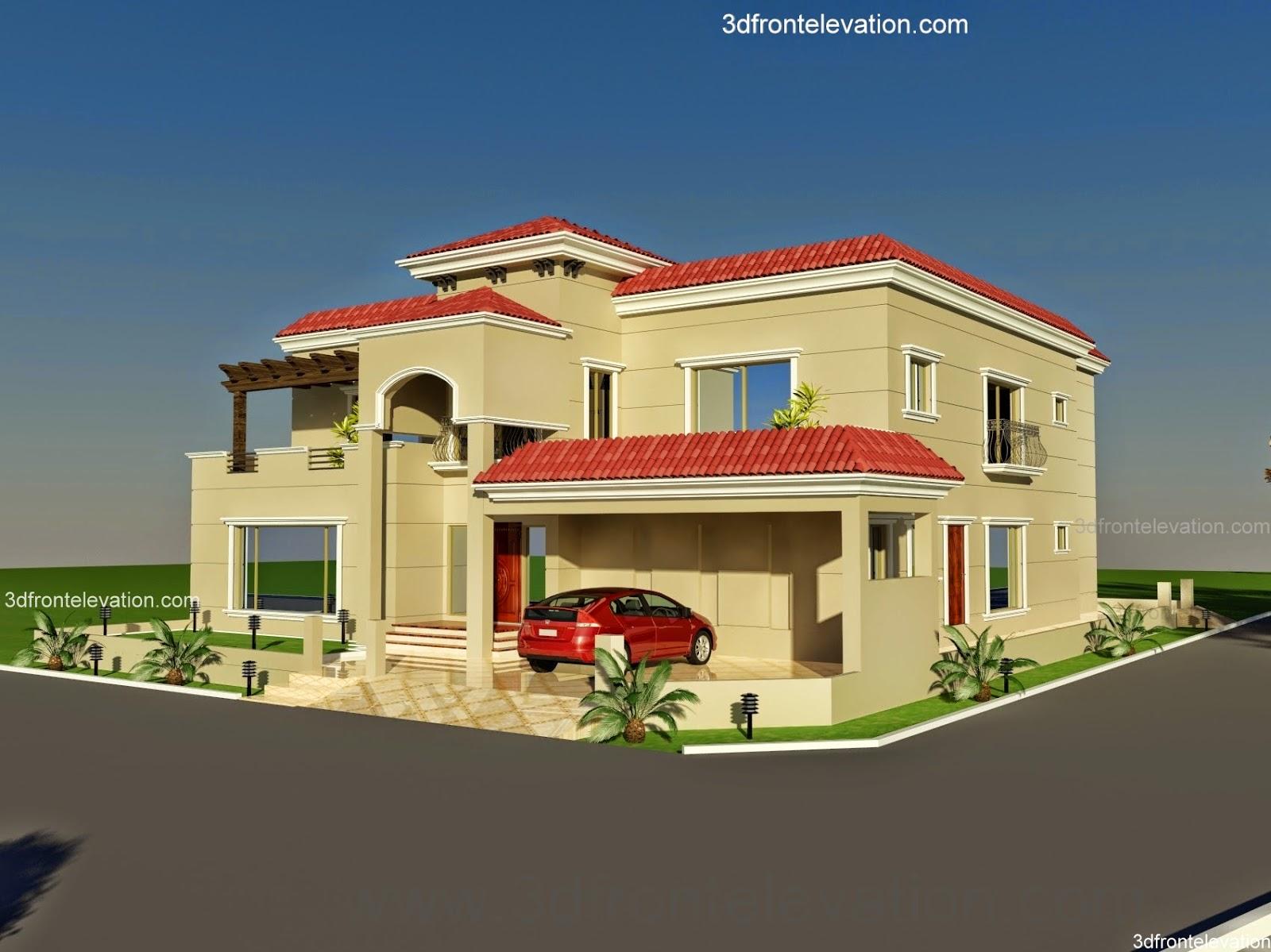 3D Front Elevation.com: 60' X 100' Wapda Town 1 Kanal