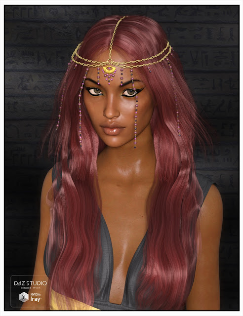 Taia Hair for Genesis 3 Female