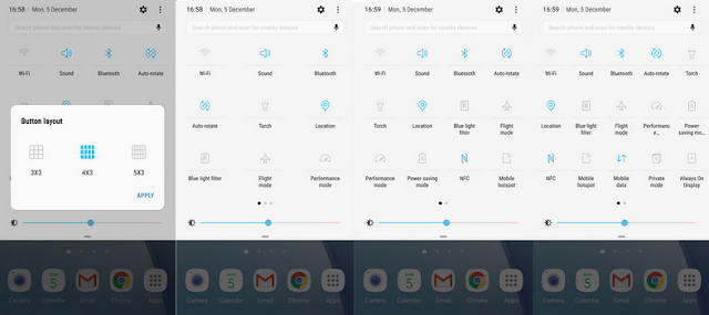 Tampilan Quick Setting Baru Android  Nougat