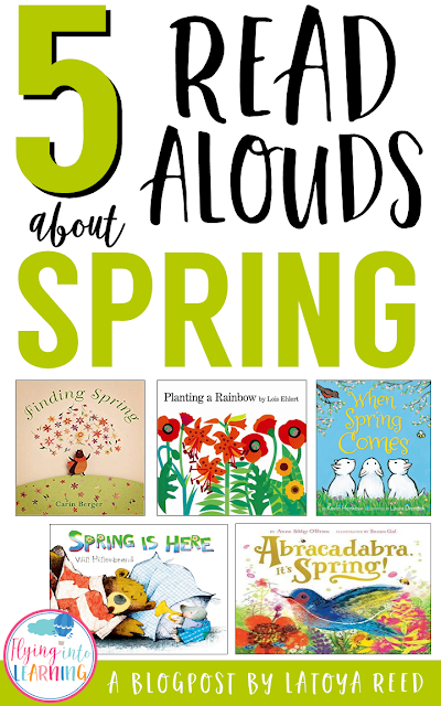 These read slouds are my favorite spring read alouds and I give an extension activity for each book including a freebie!