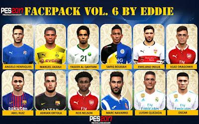 PES 2017 Facepack vol 6 by Eddie Facemaker