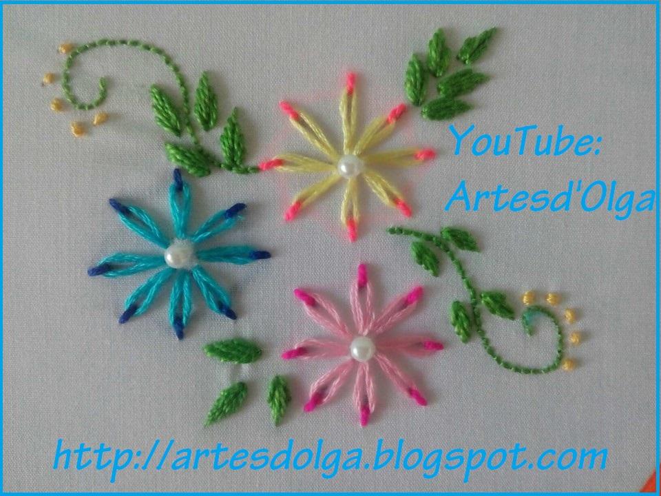 Artesd Olga Flores En Puntada Margarita Doble Color