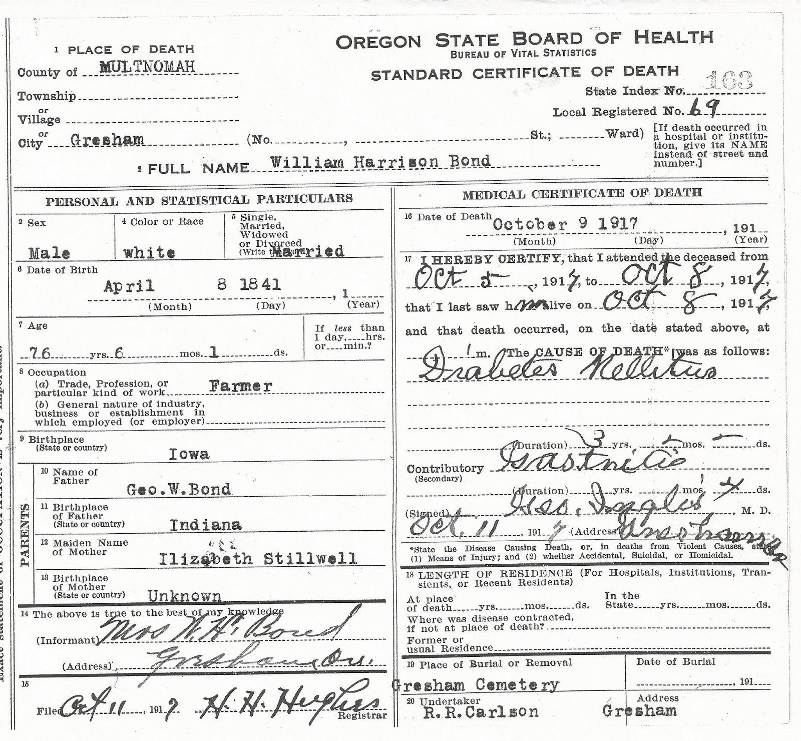 Joannes genealogy research 2017 he moved away and died in new york state so of course he doesnt have an oregon death certificate 1betcityfo Choice Image