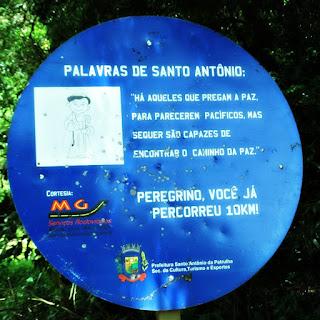 Placa de Dez Quilômetros - Caminho de Santiago, Santo Antônio da Patrulha