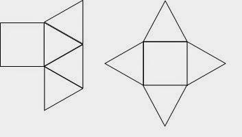gambar jaring limas segi empat