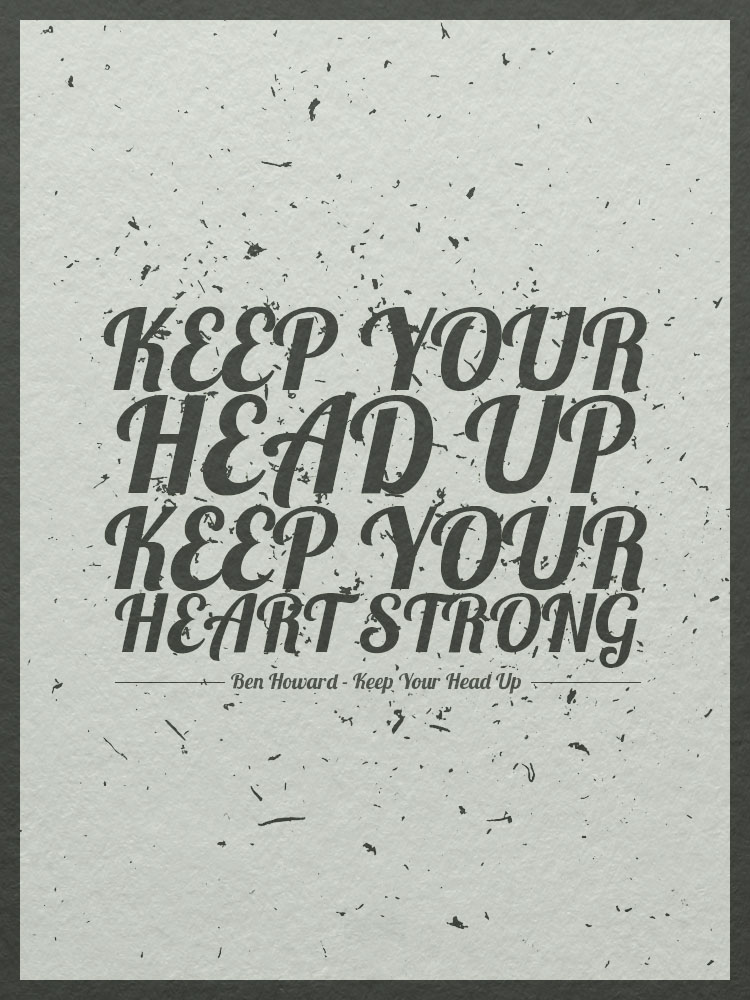 Keep Your Life On Track All Year Long: BeautyLifeThoughts: Keep Your Head Up