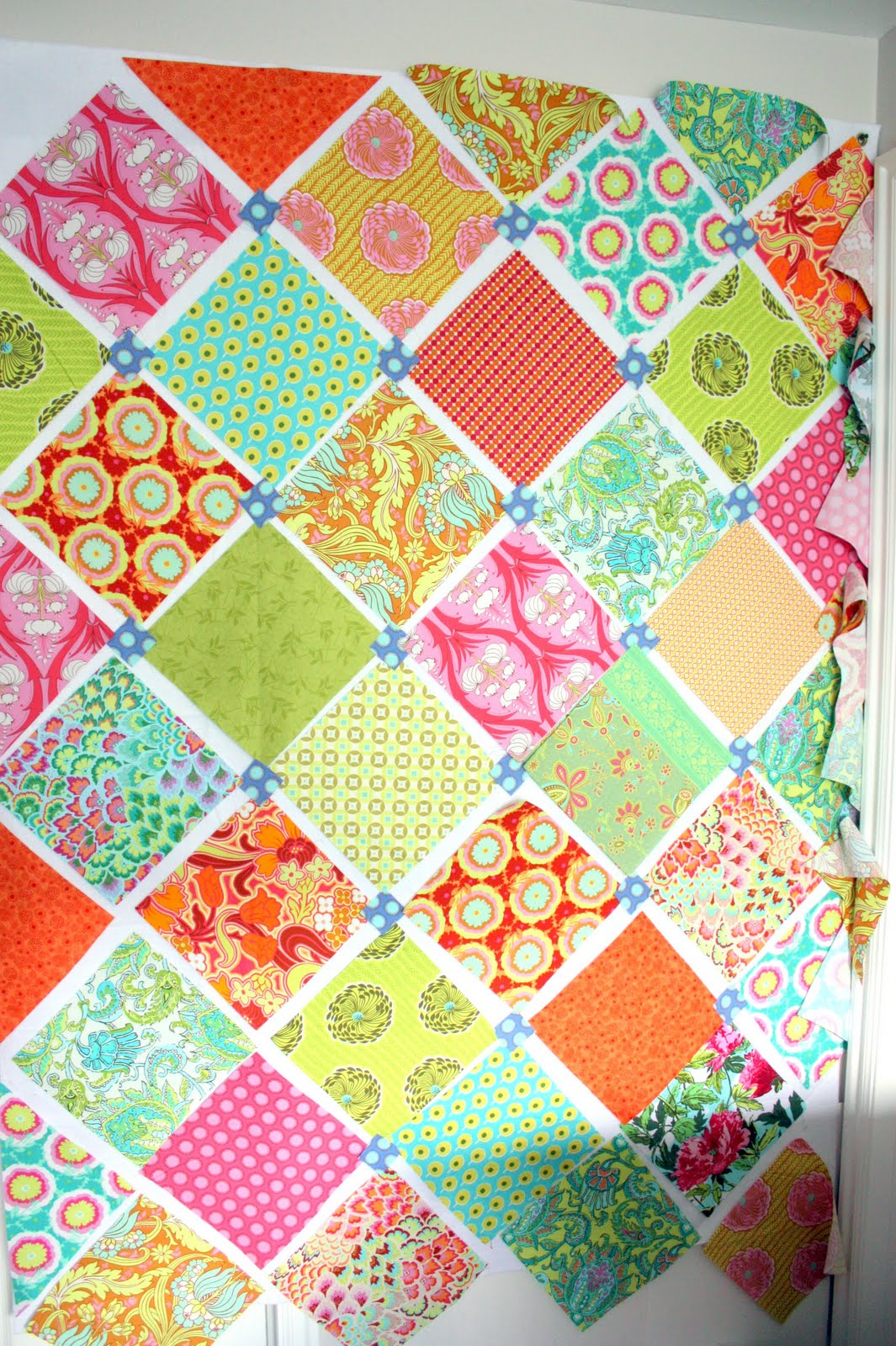 Soul Blossoms on my design wall ... - Diary of a Quilter - a quilt blog