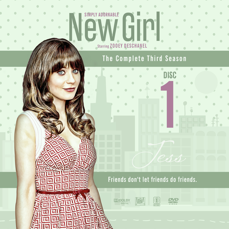 Label DVD New Girl Terceira Temporada D1 a D4