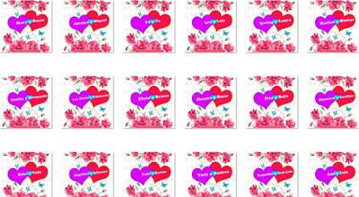 70 Nombres De Mujeres Y Hombres En 35 Postales Con Flores Y