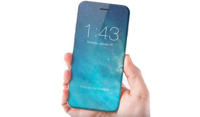 Ilustração do conceito do iPhone 8 com base em documentos de patentes