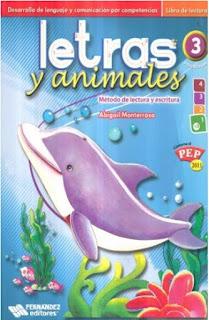 Letras y animales - material educativo - preescolar