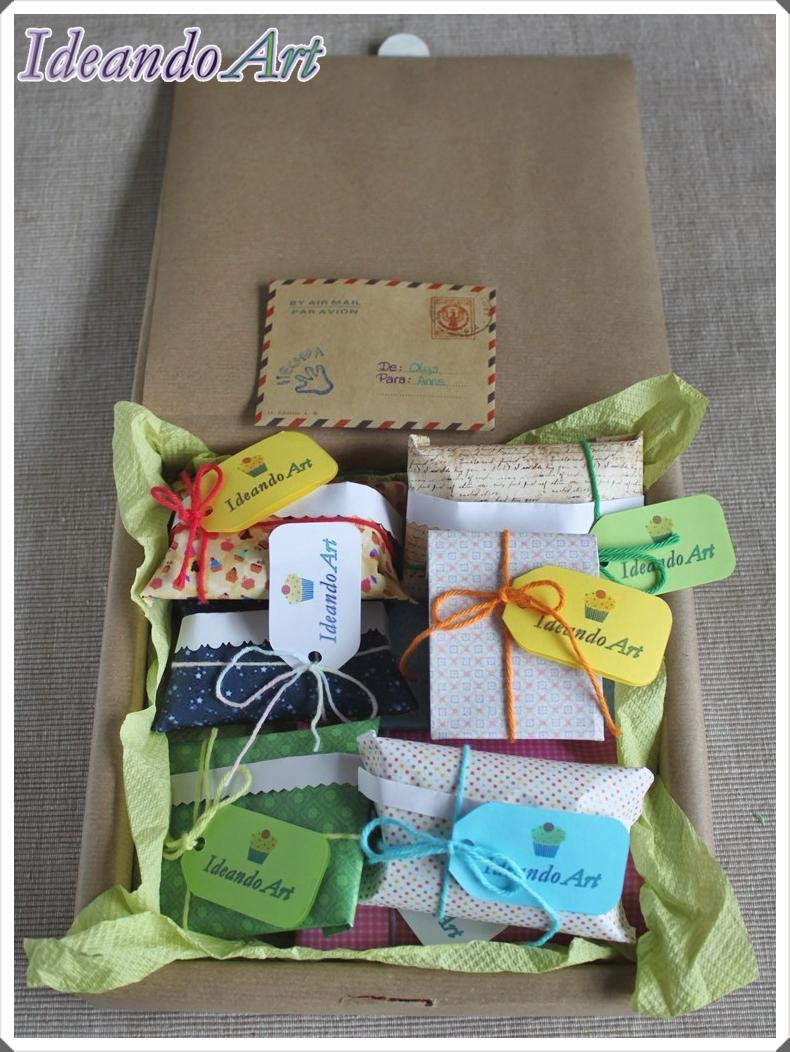 Caja y paquetitos