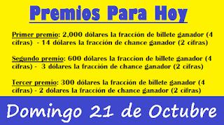 premios-para-hoy-loteria-domingo-21-octubre-2018