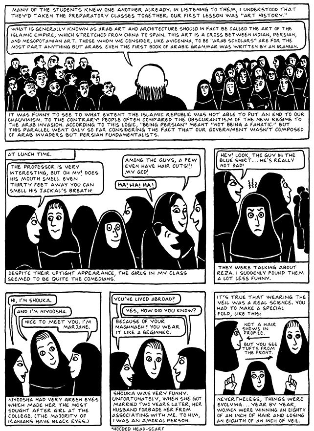 Read Chapter 15 - The Convocation, page 139, from Marjane Satrapi's Persepolis 2 - The Story of a Return