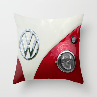 VW Split Screen Dub Throw Pillow