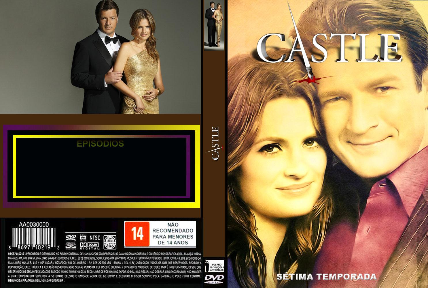CAPAS EM SÉRIE: CAPAS DVD PARA EDITAR-SÉRIE-CASTLE-8 TEMPORADAS