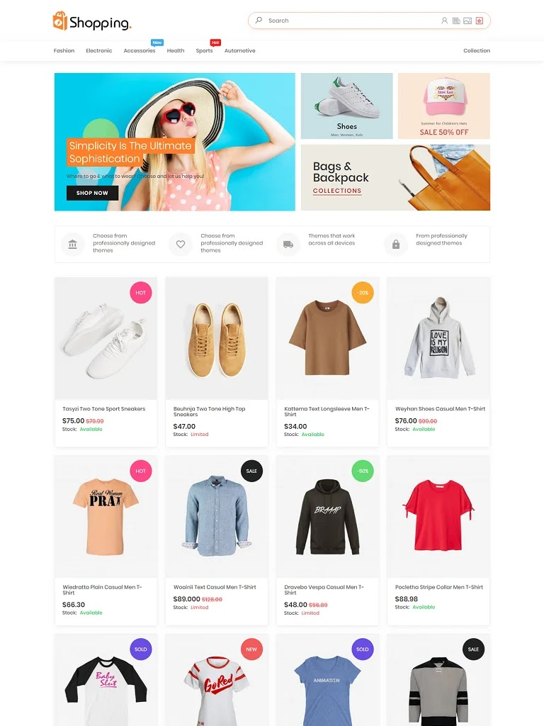 Shopping AMP HTML v1.2 Responsive Blogger Template