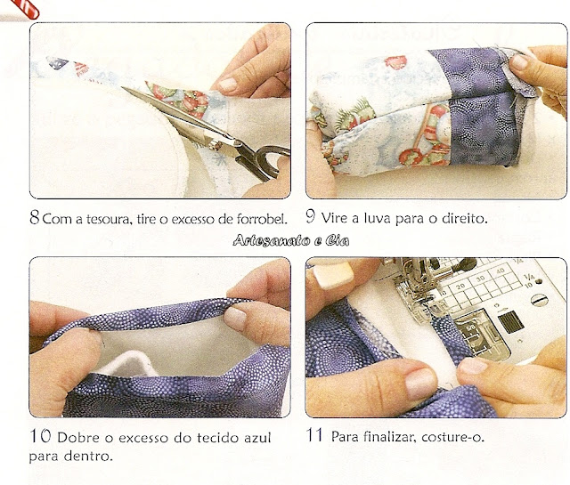 fırın eldiveni dikimi
