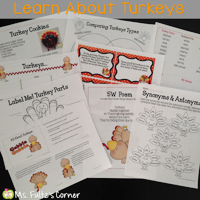 Nonfiction turkey unit for elementary students