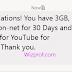Get Free 1GB To 3GB For YouTube On Tigo GH Network