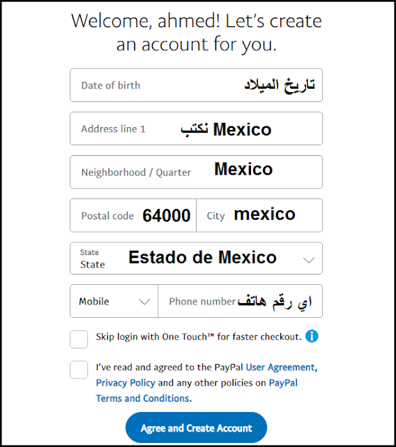 Create an activated Mexican Paypal account without a visa to send and receive money easily 89
