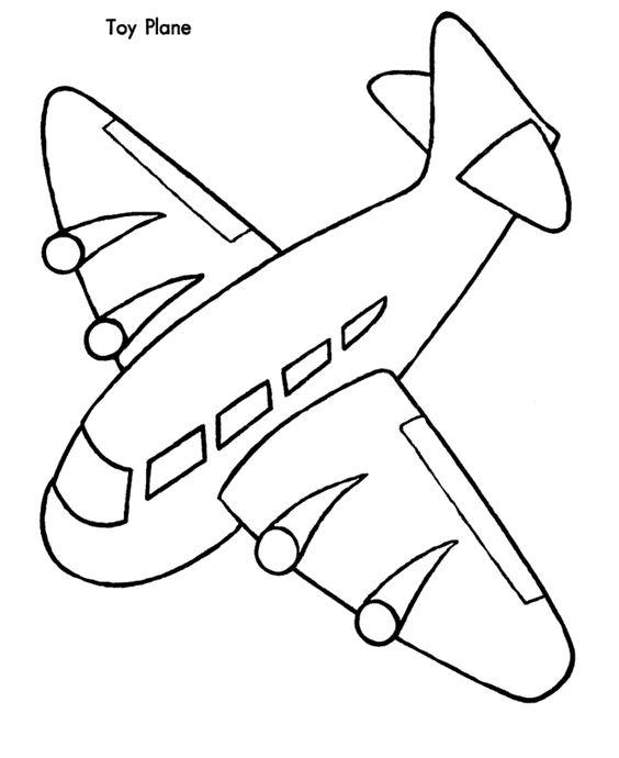 Desenhos De Aviao Para Colorir Pintar Imprimir Letra A