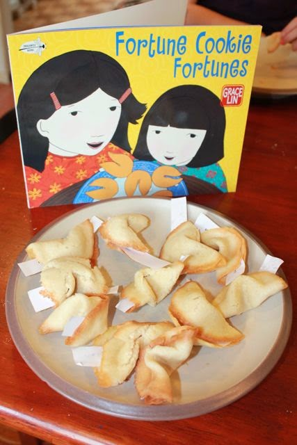Homemade Fortune Cookies for FORTUNE COOKIE FORTUNES by Grace Lin