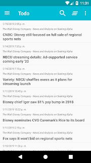 Lista de noticias