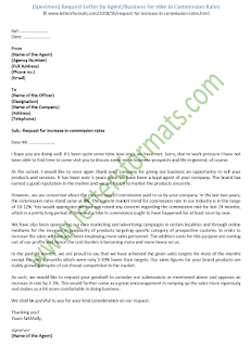 sample request letter to increase commission