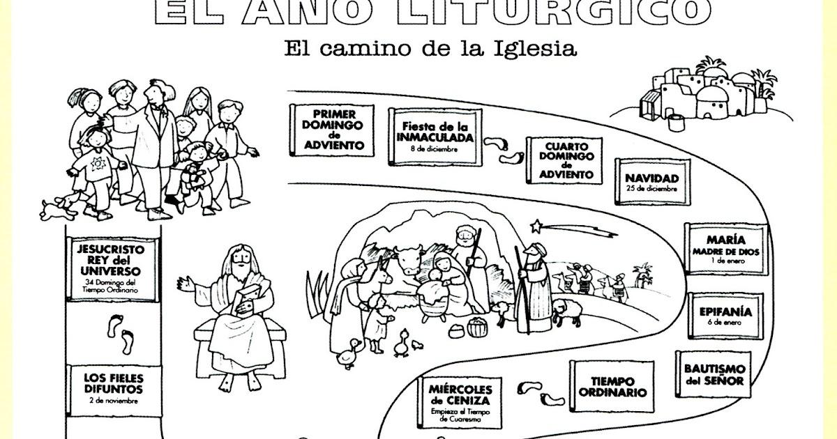Dibujos Clase De Religion: Clases De Religión Católica: El Año Litúrgico Imagen Para