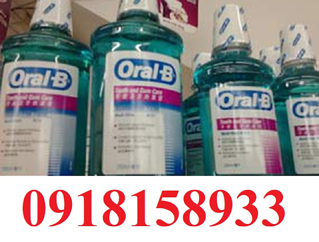 Nuoc suc mieng Oral B, dai ly Oral 0918158933