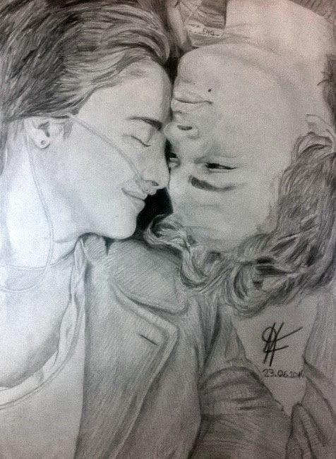 Mis Dibujos: Hazel y Augustus (Bajo la misma estrella)