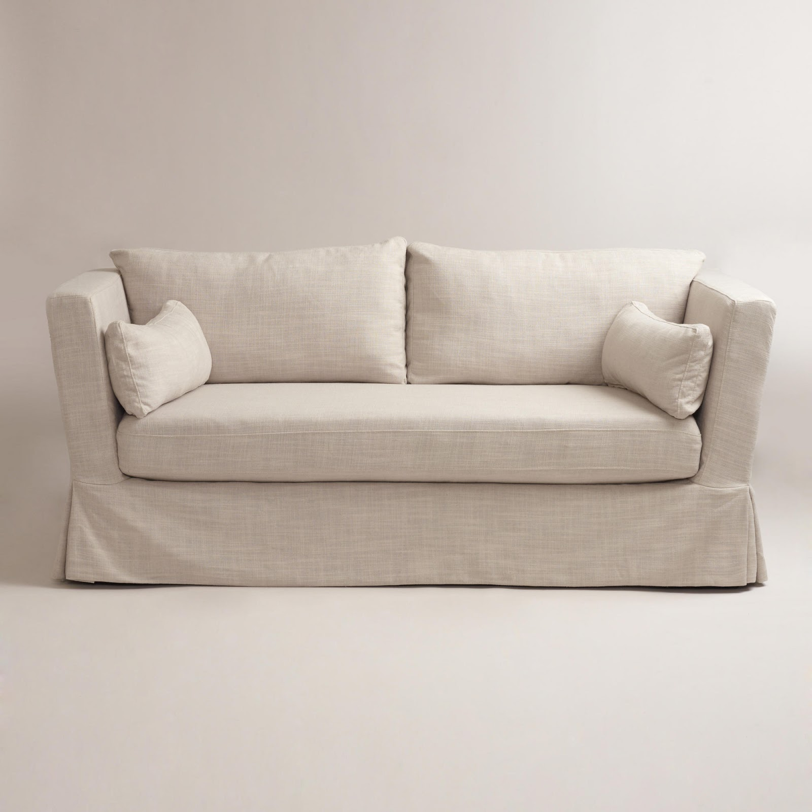 Restoration Hardware Belgian Shelter Arm Slipcovered Sofa