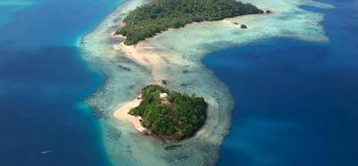 Vue aérienne de Wallis et Futuna