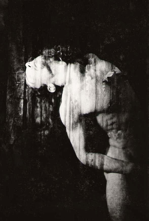 analog, selportrait, wood, double exposure, transcendance