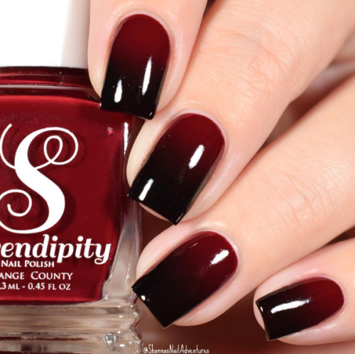 Thats Rich Red Wine Nail Art Fade
