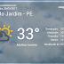 Tarde nublada com possibilidades de chuva em Belo Jardim, PE